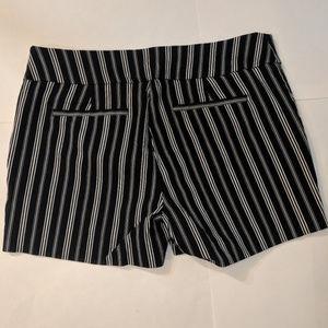 New York & Company Black & White Stretch Shorts